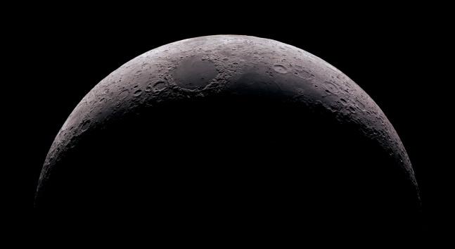 High detail 15% Crescent Moon shot at 2.700mm focal length