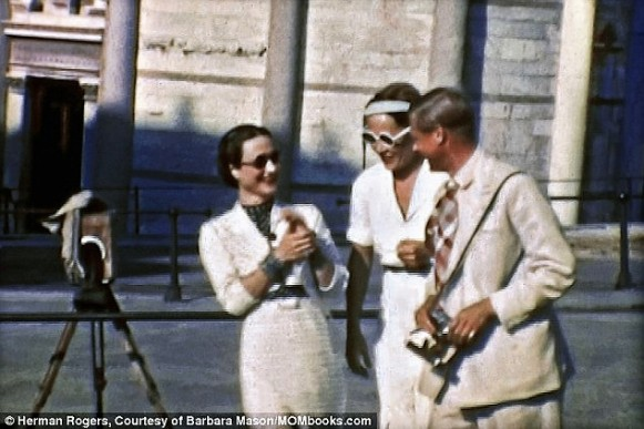 Katherine Rogers sightseeing with Edward and Wallis 1938