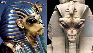 alien egyptian figures