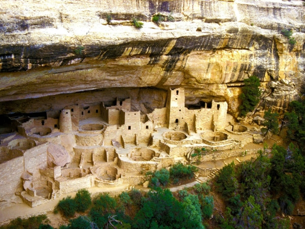 Lost city Mesa Verde in the Grand Canyon