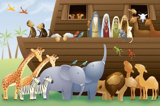 Noah and animals